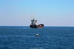 Big and Small #CT  #Sicilia #Italia . (rossolavico) Tags: europa europe italia italy italien sicilia sicily sizilien catania katane squatritomassimilianosalvatore rossolavico centrostoricocatanese nikond3100 nikon fileraw filerawnef filerawnefconversionjpeg flickrsicilia viewnx2users alba sunrise marionio ioniansea imbarcazioni boat cielo sky nuvole clouds portodicatania seaport mare sea vessel nave portacontainer