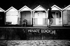 PRIVATE BEACH H, soaking up the cloud... (Graham M Green) Tags: swanage britishseaside britishcoast beach
