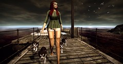 Life is better with a dog  <3 (Fofina - Tres Chic) Tags: legal insanity fame femme treschic august fashiowl dogs props shorts bluse 2016 event secondlife