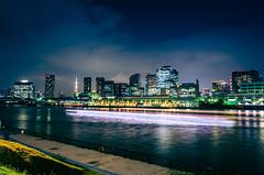 Day 260/366 : Tsukiji Fish Market at Night (hidesax) Tags: 260366 tsukijifishmarketatnight sumidariver riverboat clouds sky tokyotower night nightscape cityscape chuoku tokyo tsukiji hidesax leica x vario 366project2016 366project 365project