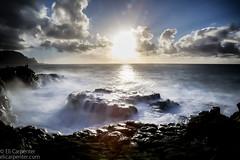 Queen's Bath | Kauai, HI (elicarpenter) Tags: sea ocean shore rocks longexposure sunset dangerous queensbath clouds seaside hike hawaii