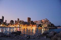 14/07/2016 (marinarad) Tags: beauty mr marinarad mywork canon luna sunset moon natural simple playa sea beach relax ciudad city 2016 summer spain espaa benidorm