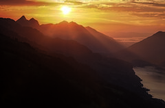 Final View (Elliott Bignell) Tags: switzerland suisse svizzera schweiz ostschweiz rheintal rhinevalley flums flumserberg walensee walenstadt see gebirgssee bergsee sonnenuntergang sunset sundown abend evening lake walen berge berg alps alpen alpine alp
