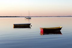 Like painted boats upon a painted sea (orothy) Tags: morning water sea colourful painted boats waiting victoriapoint