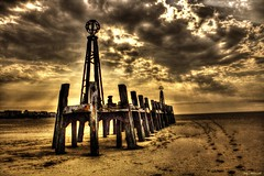 Old Pier (Billy McDonald) Tags: hdr oldpier stannes pier beach clouds
