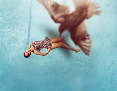 73/365 (itskatrinayu) Tags: water fromabove bird birdseyeview self portrait pool 365 project outdoor sunlight blue woman floating float