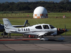G-TAAB Cirrus SR22 (Aircaft @ Gloucestershire Airport By James) Tags: gloucestershire airport gtaab cirrus sr22 egbj james lloyds