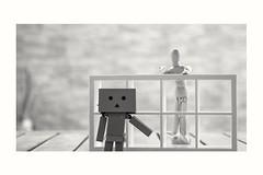 Dan y Dummy (cesarpc1975) Tags: mueco dan danboard dummy blancoynegro nikon monocromtico bw