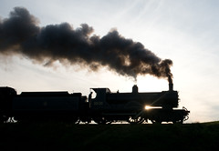 Drummond T9  4-4-0 No. 30120 on the Severn Valley (norman-bates) Tags: greyhound 120 silhouette smoke steam 440 drummond steamengine exhaust svr steamlocomotive severnvalleyrailway t9 watercart 30120 mattfielding
