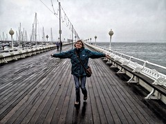 Dancing in the rain (darren500D) Tags: sea seaside starwarsgirl sallytorquaypierrainholiday