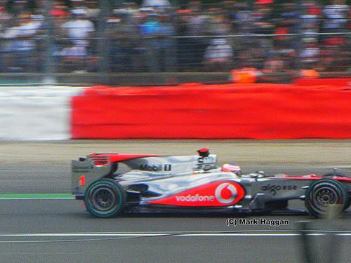 Jenson Button in his McLaren at the 2010 British Grand Prix