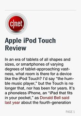 Article: Apple iPod Touch Review
