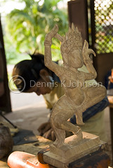 Dancing Figure, Artists de Angkor (dkjphoto) Tags: wood travel school sculpture art statue stone training garden student asia cambodia southeastasia artist khmer traditional silk culture angkorwat carving adventure exotic orient siemreap angkor artisan kampuchea artisansdangkor dennisjohnson