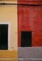 [282/365] Ciutadella Walls (Rich Jankowski) Tags: red yellow wall canon spain alley rustic cable alleyway shutter ff menorca cuitadella ef2470f28lusm canon5dmkii 5d2