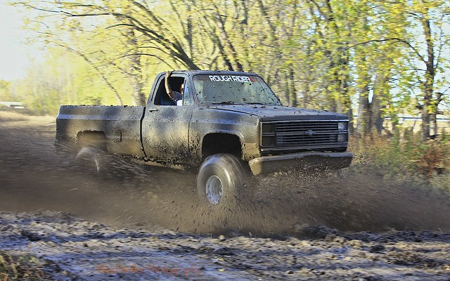 water truck river mud 4wd chevy swamp sbc silverado lifted mudding interco borderfx