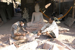 Stone Carvers Siem Reap (dkjphoto) Tags: wood travel school sculpture art statue stone training garden temple pagoda student worship asia cambodia southeastasia king artist khmer god stupa buddhist traditional religion silk culture royal buddhism angkorwat carving siemreap angkor hindu hinduism artisan kampuchea dennisjohnson
