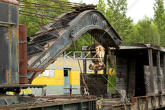 antique crane (jenntrans8877) Tags: wood old abandoned metal alaska museum train vintage ancient industrial crane machinery rusted transportation vehicle traincar weathered boxcar outdated landtransportation
