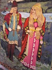 Iceland - Hvolsvollur - Skogasafn Folk Museum - Embroidered Wall Hanging featuring characters of Icelandic Saga Njall (JulesFoto) Tags: museum iceland wallhanging folkmuseum skogar skogasafn hvolsvollur icelandicsaga