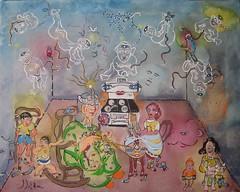 MARIA BOUCHARD, LA TRICOTEUSE DE VIE (Claude Bolduc) Tags: family grandma folkart outsiderart quebec surrealism bigfamily visionaryart artsingulier autodidact intuitiveart autodidacte