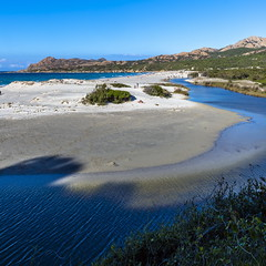 Ostriconi Beach-136 (marcdelfr) Tags: ocean travel sea france beach landscape mediterranean corse corsica streetphotography scenics stitchedpanorama ostriconi palasca