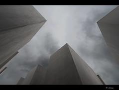 Looking up..... and thinking of..... (Just me, Aline) Tags: sky berlin deutschland memorial explore lucht duitsland d800 petereisenman berlijn holocaustmahnmal 1424