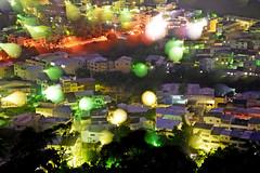 in Taiwan Taichung .  .    DSC_7725 (Ming - chun ( very busy )) Tags: city travel light sky house mountain building landscape star evening nikon taiwan scene taichung nikkor              taichungcity  fongyuan