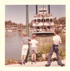 3 Brothers at Disneyland (uhhmika) Tags: family brothers disneyland siblings retro scanned 1960s