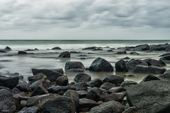 The Sea Rocks (BAN - photography) Tags: ocean longexposure sea rocks surf waves seagull burleighheads