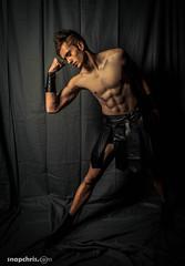 Gladiator six pack (tibchris) Tags: show sanfrancisco california portrait people male halloween beautiful fashion model dramatic runway gladiator evo4 gailshrive snapchris