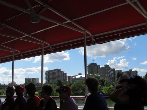 cruise summer canada buildings river boat downtown saskatoon saskatchewan 2012