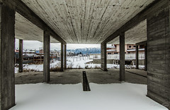 Rila Mountain through concrete (Lyubo Yanev) Tags: winter bulgaria rila borovets  samokov