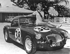 MG A Twin Cam Hood Ornament at Sebring 1960 (Nigel Smuckatelli) Tags: auto classic cars race speed vintage classiccar automobile florida racing prototype hour passion legends vehicle autoracing 12 sebring sir endurance mga motorsports fia bmc csi sportscar 1960 wsc heures world sportauto autorevue historic championship raceway louis sebringinternationalraceway sebringflorida 1960 legends gp oldtimersport colinescott histochallenge manufacturers gp sebring motorsports nigel smuckatelli galanos manufacturers the12hourgrind tedlund