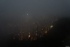 Hong Kong - The Peak -1- (jf garbez) Tags: voyage china city nightphotography travel house mist building fog clouds hongkong town nikon asia asie thepeak nikkor  nuage btiment brouillard ville chine hongkongisland brume immeuble  habitation edifice d600 2485mm photodenuit  nikond600 nikonpassion ledehongkong nikkor240850mmf3545