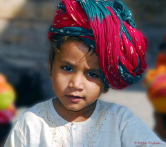 A young boy at Jaisalmer, Rajasthan, India (suresh_krishna) Tags: portrait india potd turban jaisalmer rajasthan youngboy