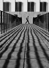 walk the walk (Thomas Leth-Olsen) Tags: architecture shadows symmetry leadinglines manwalking sophiaantipolis