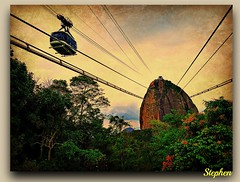 ~ Sugar Loaf a Perspective ~ (stephgum32807) Tags: brazil sugarloaf photomix riodejanerio
