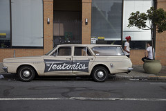 The Teutonics Wagon (Generik11) Tags: sf windows people cars architecture dodgedart sfist