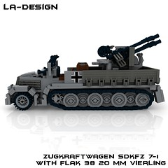 LEGO Custom WW2 SdKfz 7-1 Flak 38 2 (LA-Design2012) Tags: 1 tank lego wwii 7 ww2 vehicle instructions pdf custom xml armored flak 38 moc sdkfz bauanleitung ladesign flakvierling