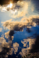 reflection (david_sharo) Tags: trees sunset water clouds lakes davidsharo