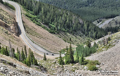 July 16 2016 - Looking down at three switchbacks from Beartooth Highway (lazy_photog) Tags: red party mountains joseph photography highway montana chief rally pass motorcycles lodge lazy babes wyoming elliott bikers photog beartooth worland 071616beartoothandredlodge