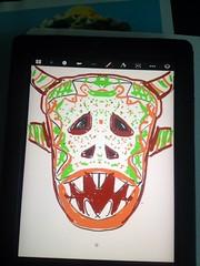 Dibujo Mascara (mbsuarez) Tags: vejigante mascara folklore
