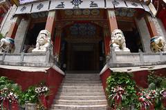 Nanwu Si Monastery, Kangdingg (sensaos) Tags: travel sensaos 2014 asia china kangding sichuan city urban nanwu nánwú si monastery nanwusimonastery tibetan buddhist garzêtibetanautonomousprefecture province southwestern traditional architecture region kham buddhism religious temple