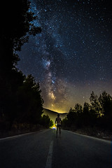 Follow your dreams... (Vagelis Pikoulas) Tags: selfshot selfie canon 6d tokina 1628mm view night nightscape landscape street road vilia greece summer 2016 milky milkyway way space universe stars star galaxy july
