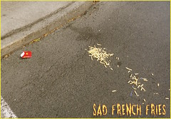 Sad French Fries (chrstphre) Tags: mcdonalds corner street sidewalk fries french sad