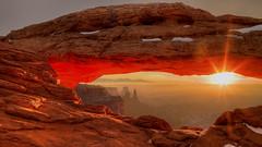 Mesa Arch Sunrise (Vuong Cong Minh) Tags: arch canyonlands landscapes mesaarch red rock snow sun sunrise tonyshi utah morning xiaoying
