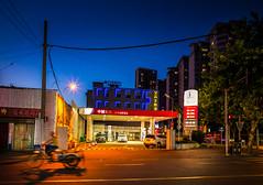 gas (Rob-Shanghai) Tags: petrol gas station sinopec night tricycle fillingstation leicaq leica shanghai china street