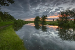 Sunset over Grand Union Canal (John__Hull) Tags: grand union canal sunset reflection leicestershire whetstone clouds sky water path nikon d3200 sigma 1020mm