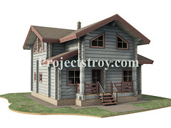 Wood house project (projectstroy) Tags: wood blockhome blockhouse house home architecture plan project drawing 3d rendering building log cabin