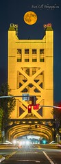 Sturgeon Moonrise over Sacramento's Tower Bridge (markarlilly) Tags: sacramento bridge towerbridge yolocounty westsacramento moon moonrise fullmoon sturgeon sturgeonmoon
