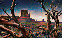 Alternate Monument Valley (D'ArcyG) Tags: monumentvalley arizona mountains naturalwonder desert oldtrees rocks rockformations geology abstract impressionistic expressionistic